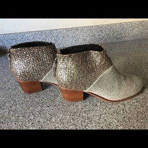 """Toms 2"""" inch grey dress booties"""